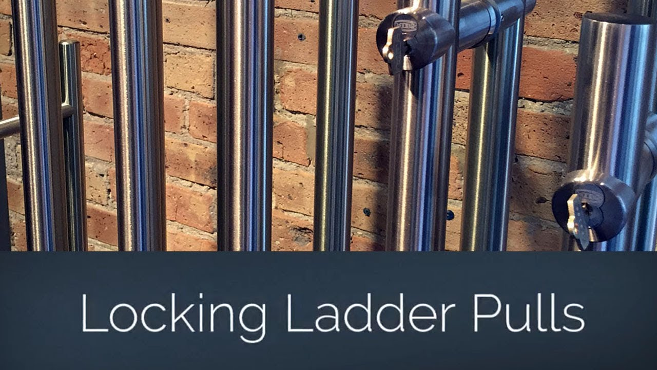 Locking Ladder Pulls For Commercial Glass Doors Youtube