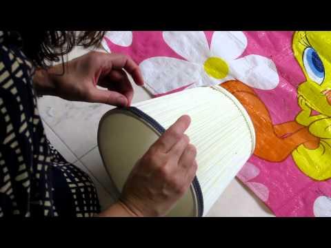 Quick and Easy DIY..ng a Lamp Shade with Ribbon
