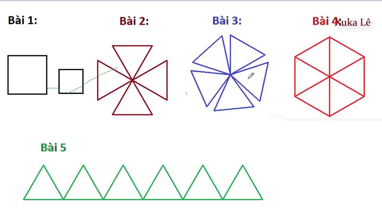 Hướng dẫn sử dụng các câu lệnh Logo vẽ bài 1- bài 5|| Em học lập trình MSWLogo