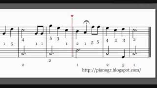 Happy birthday - piano sheet music παρτιτούρα