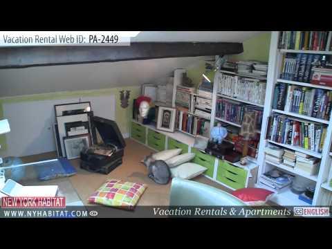 Paris, France - Video tour of a vacation rental on Rue des Gravilliers (Le Marais)
