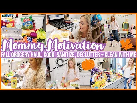 *NEW* FALL CLEAN + DECLUTTER WITH ME 2019! COOK W/ ME GROCERY HAUL + MEAL PLAN! SAHM MOTIVATION!