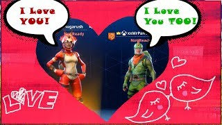 "The NEW! ""Tricera Ops"" Skin falls in love with the REX Skin! (Fortnite Funny Moments)"