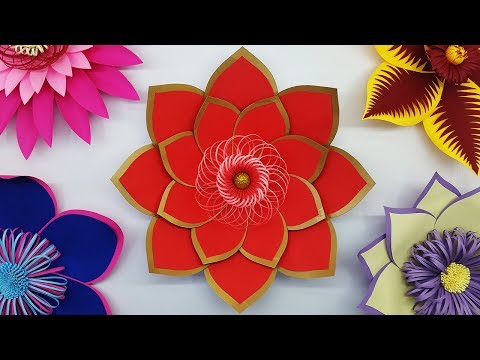DIY Paper Flowers Making Tutorial and Free Template | Paper Flower Backdrop