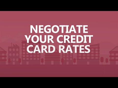 Save Big in 30 seconds a day: Negotiate your credit card rates.