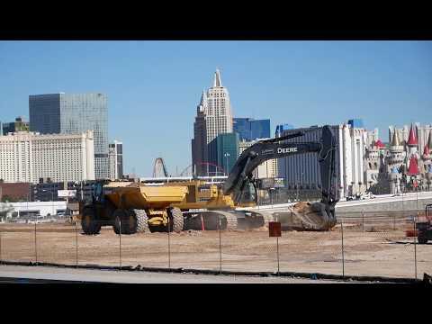 Our John Deere 870G Excavator Building Raiders Stadium