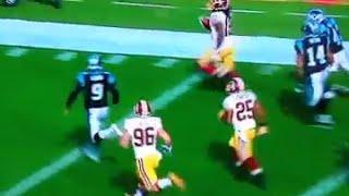Redskins KR Andre Roberts Weaves Through Carolina Defense Takes Kick 99 Yards for TD