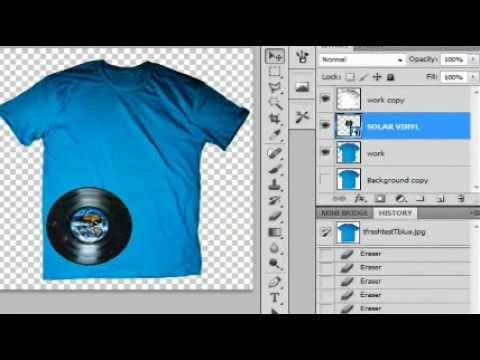 How to make REALISTIC Tshirt Mock ups  Templates for sites like