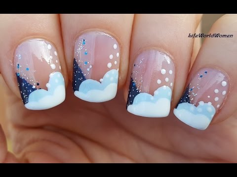 christmas french manicure nail