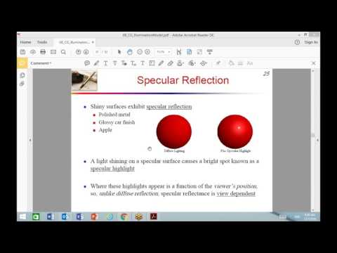 Illumination Models and Shading Models