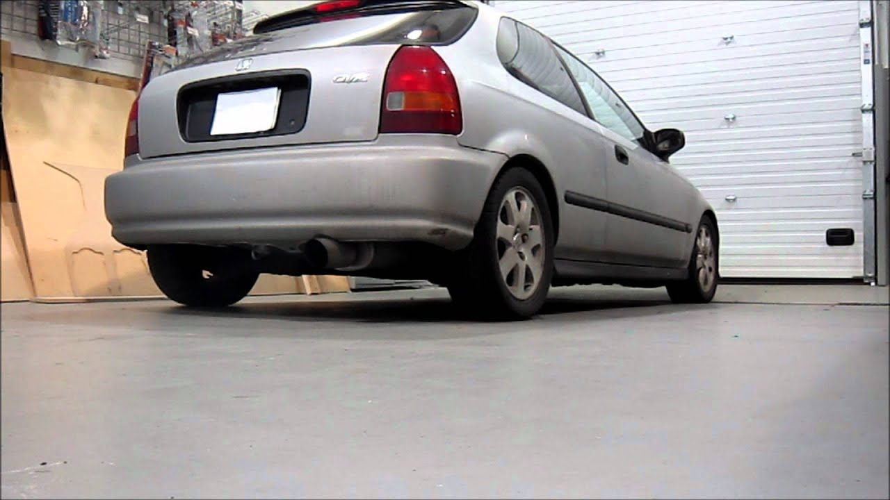 1996 Honda Civic Hatchback Magnaflow Exhaust (Part# 14814) | AnthonyJ350 - YouTube