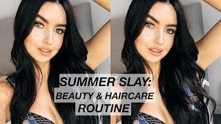 SUMMER SLAY: BEAUTY AND HAIRCARE ROUTINE | EMMA MILLER