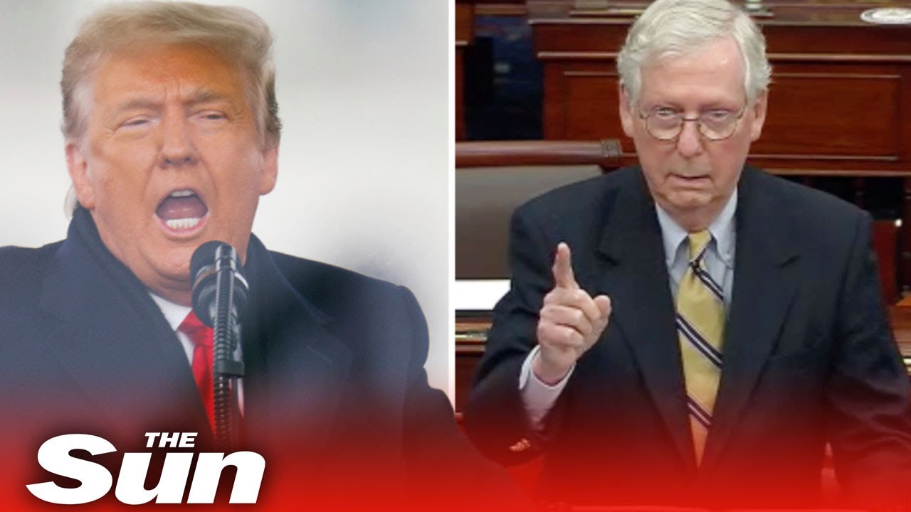 Trump blasts McConnell, calling him an 'unsmiling political hack'