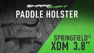 ShapeShift XDM 3.8 And XDM Compact Paddle Holster OWB - Alien Gear Holsters
