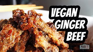 VEGAN GINGER BEEF | Recipe by Mary