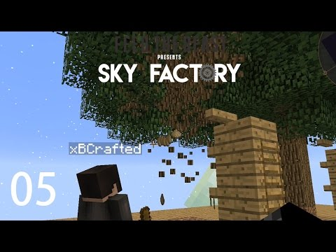Sky Factory 3 w/ xB - COMPRESSED HAMMER [E05] (Minecraft Modded Sky Block)