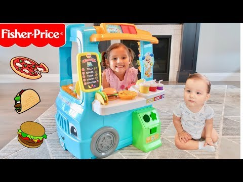 Servin' Up Fun Food Truck Fisher-Price Toy Review Step 2 & Little Tikes Compilation