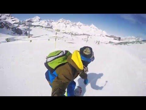 Cervinia + Zermatt 2016 Snowboard GoPro Hero 4 silver
