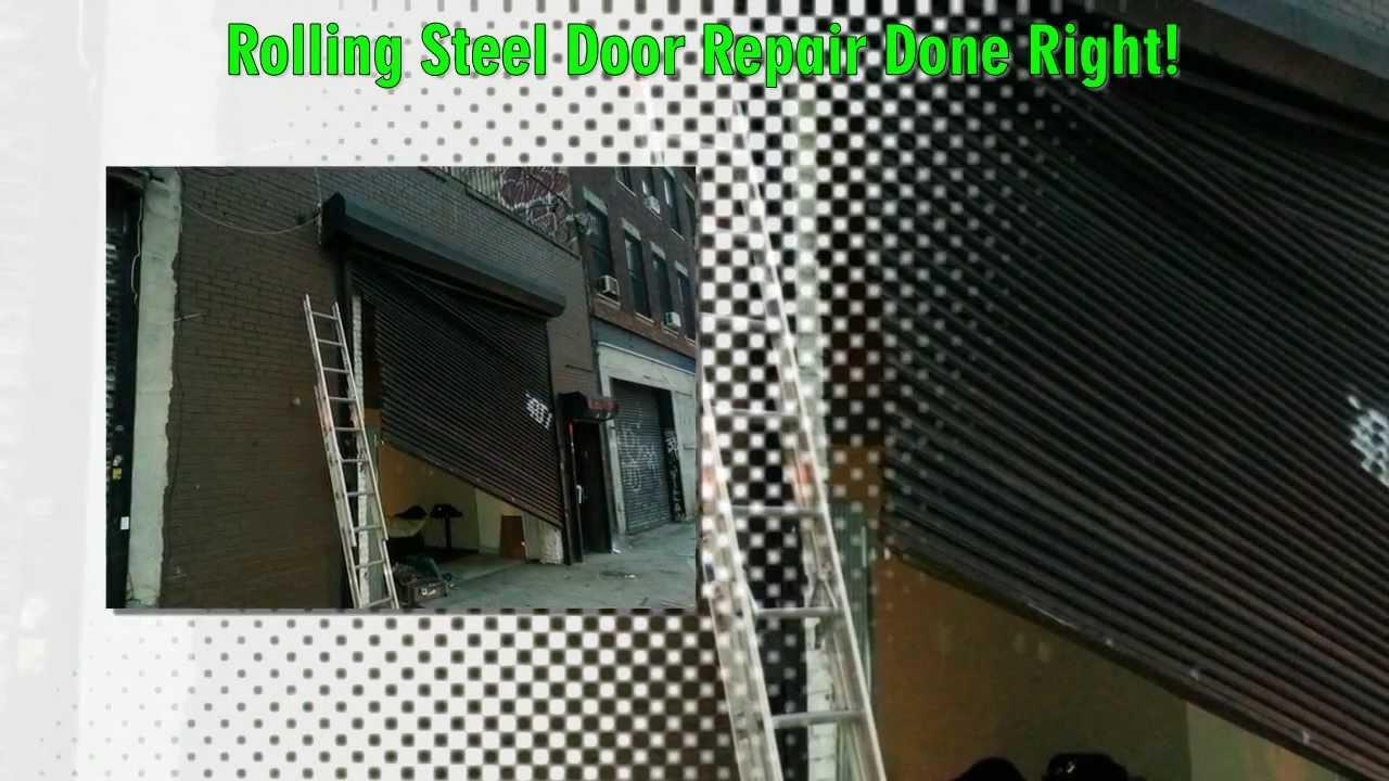 Roll Up Garage Door Repair NYC, NY 888 673 6671 Emergeny Roller Sectional  Door Service NYC   YouTube
