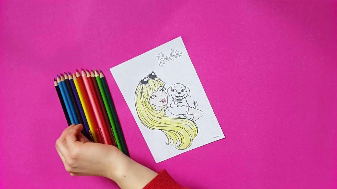 Barbie Ve Köpeği Boyama Renkler Eğitici Video Youtube