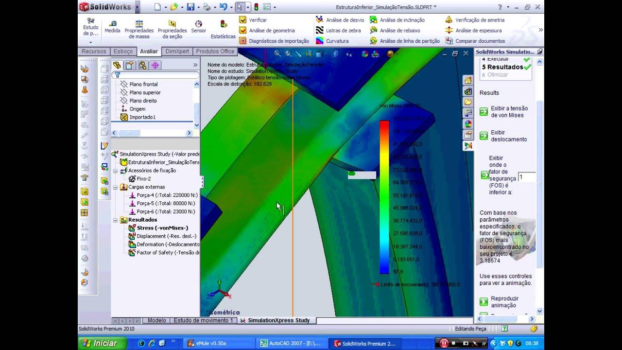 Análise por Elementos Finitos - SolidWorks 2010