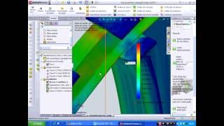 Análise por Elementos Finitos - SolidWorks 2010 - Estrutura Metálica