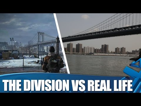 The Division Vs Real Life - New York locations: How accurate is The Division's version of New York? We found out!  On a recent trip to New York we filmed comparisons of the real locations used in Ubisoft's RPG shooter The Division so you can see how they stack up side-by-side.  See how the game's versions of the Brooklyn Bridge, Manhattan Bridge, The Empire State Building, Madison Square Garden and more look next to the real thing.  Watch the Alien Isolation interview with Sigourney Weaver here! https://www.youtube.com/watch?v=-xU0-o3NJRw&list=UU6yzV_xgKn8r77FkcmZyMSg  PlayStation Access TV brings you the latest UK PS3, PS4 and PSVita news, events and goodies each week, giving you unprecedented access to the biggest games and events on PlayStation. Subscribe now to ensure you never miss out: http://bit.ly/AccessSub  Want more? Join us on Facebook: http://bit.ly/AccessFB Follow us on Twitter: http://bit.ly/FollowAccess