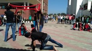 chandigarh university cu fest 2017 nukkad natak