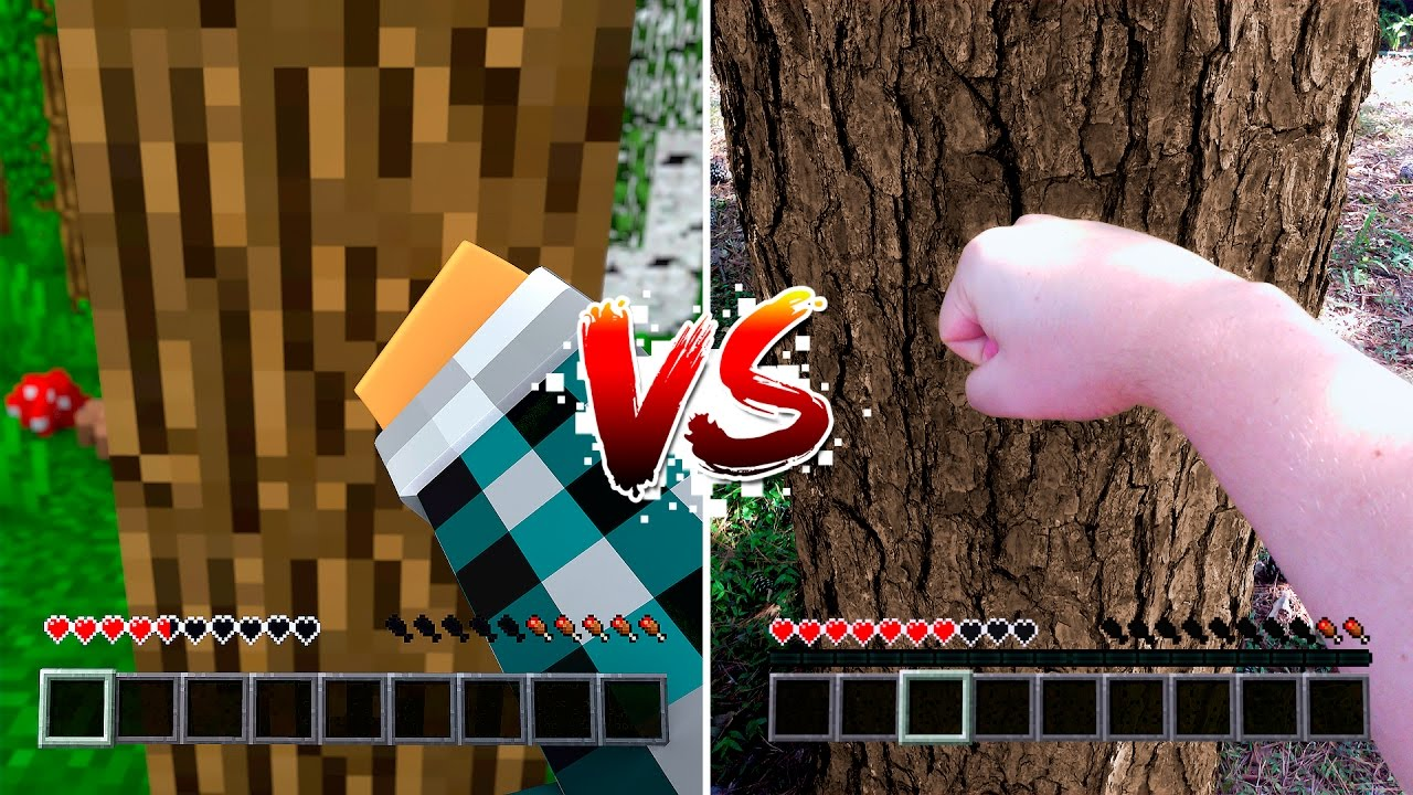 Minecraft Vs Vida Real Minecraft Vs Real Life Youtube