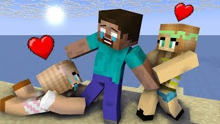 Monster School: Girls Chase Herobrine - Minecraft Animation