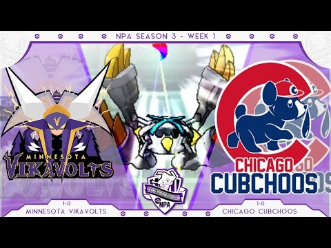 Overpowered! | Minnesota Vikavolts VS Chicago Cubchoos Week 2 NPA S3  | Pokemon Sun Moon WiFi