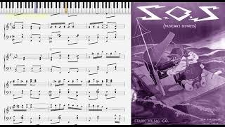 S.O.S. [Musician's Distress] Bradshaw & McGrade (1919, Ragtime piano)