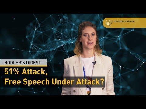 "<span aria-label=""51% Attack, Free Speech Under Attack? | Hodler&#39;s Digest by Cointelegraph 1 week ago 18 minutes 4,455 views"">51% Attack, Free Speech Under Attack? | Hodler&#39;s Digest</span>"