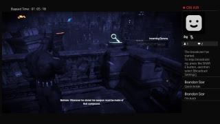 Batman arkham city livestream gameplay