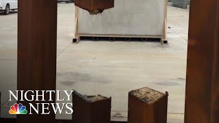 Test Of Steel Prototype For Border Wall Showed It Could Be Sawed Through | NBC Nightly News In a test
