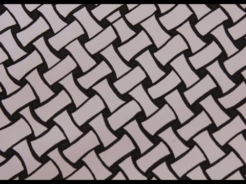 How to draw Zentangle Patterns Basket Weave YouTube Unique Patterns To Draw