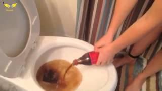 Как отмыть унитаз Кока Колой