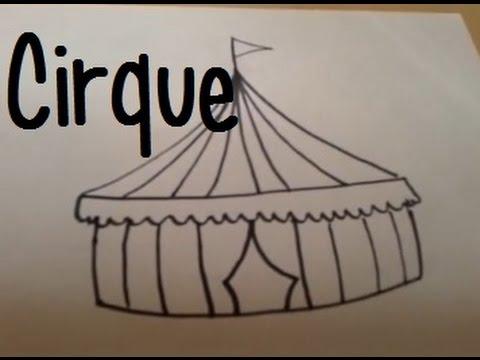 Dessiner un chapiteau de cirque youtube - Dessin d un chapiteau de cirque ...