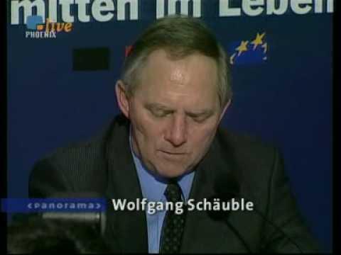 Wolfgang Schäuble und die 100.000 Mark aus dem schwarzen Koffer. NDR Panorama
