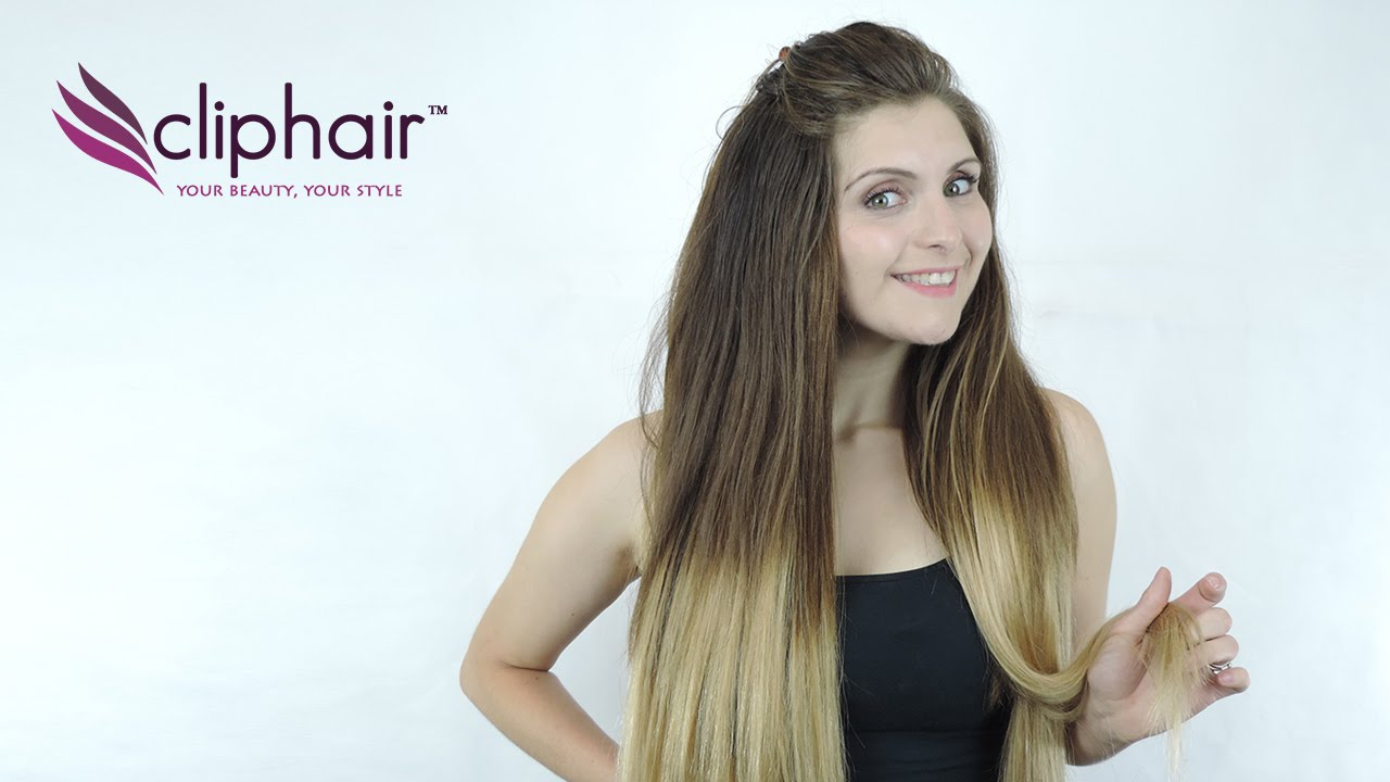 Dip Dye Ombre Hair Extensions By Cliphair Youtube
