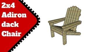 2x4 Adirondack Chair Plans
