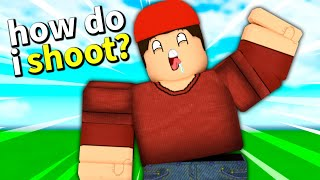 I pretended to be a noob.. (Roblox Arsenal)