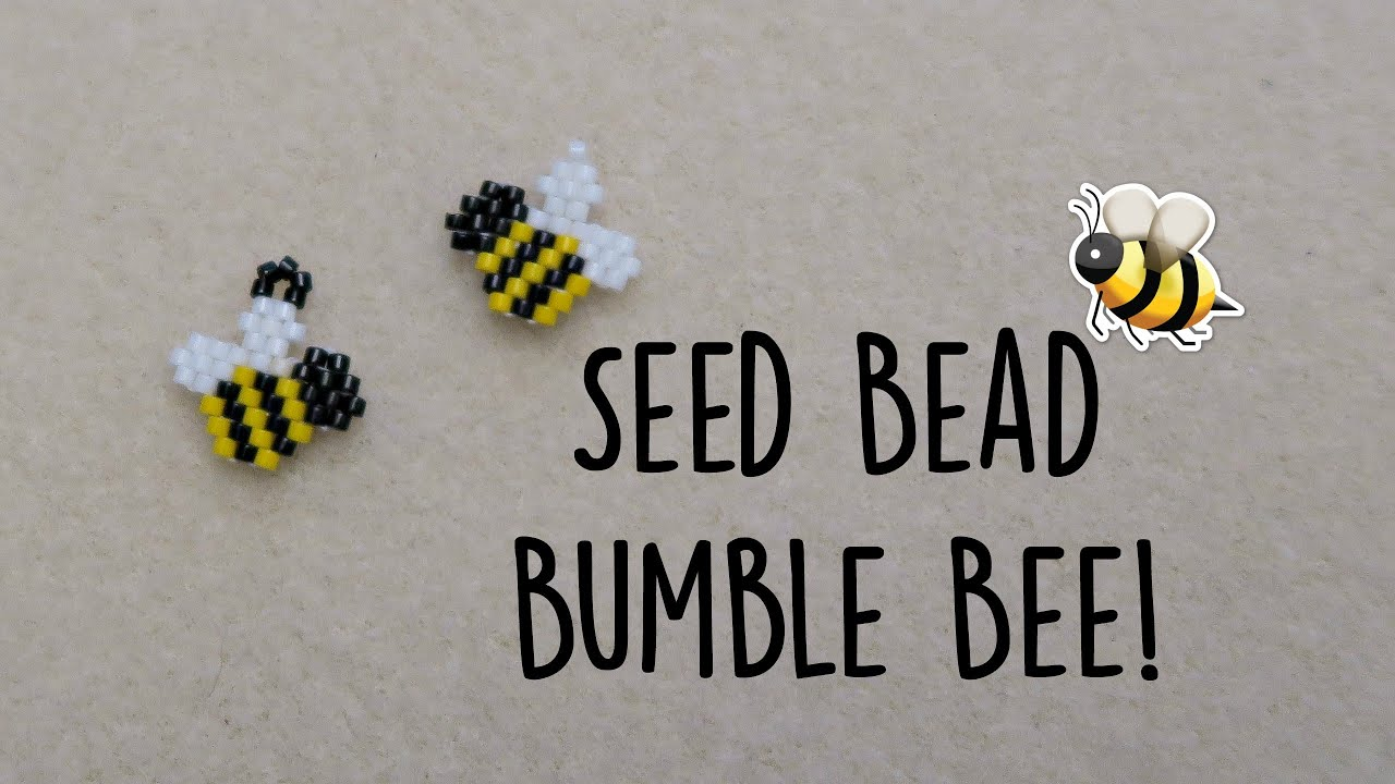 Craft bumble bee - Seed Bead Bumble Bee Brick Stitch Bead Weaving The Corner Of Craft