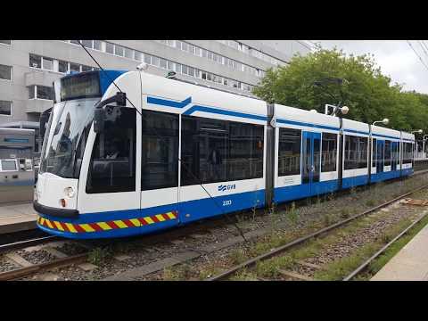 GVB Amsterdam C2A Tram 5 en S2 Metro 51 vanuit De Boelelaan/VU