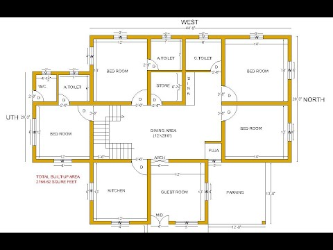 4 Bed Room East Face House Plan 4bhk East Face Modern House Plan Bungalow Design As Per Vastu Youtube