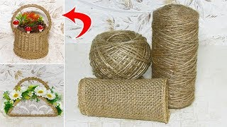 7 IDEAS crafts from JUTE. Do it yourself.