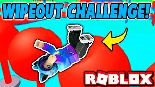 THE MOST FRUSTRATED I HAVE EVER BEEN! Roblox Wipeout Challenge