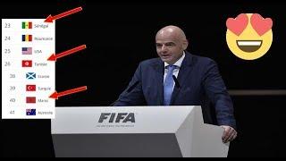 المنتخب المغربي يتقدم 7 مراكز دفعة واحدة في تصنيف الفيفا شاهد بالفيديو