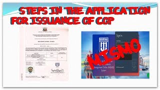 STEPS IN THE APPLICATION FOR ISSUANCE OF COP