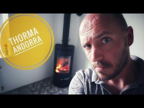 Обзор печи Thorma Andorra. Живой объект с выводом дымохода через стену